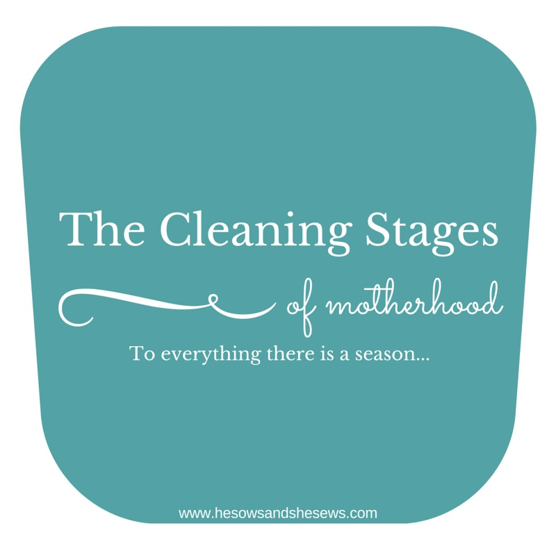 The Cleaning Stages of Motherhood